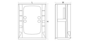 store 174 series 7233 60 quot x 34 quot x 75 3 4 quot shower stall with aging in place backerboards
