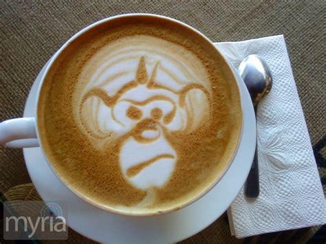 monkey coffee coffee creativity 21 fun exles of foam latte art myria