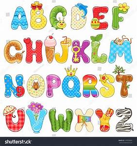 colorful children alphabet spelled out different stock With children s alphabet letters