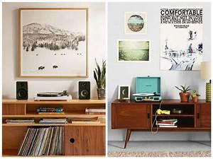 Meuble Platine Vinyle Vintage : une d co avec des disques vinyles pour un int rieur vintage ~ Teatrodelosmanantiales.com Idées de Décoration