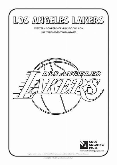 Nba Coloring Lakers Pages Basketball Logos Los