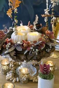 Thanksgiving Candle Centerpiece Idea