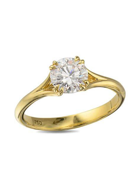 yellow gold engagement ring turgeon raine