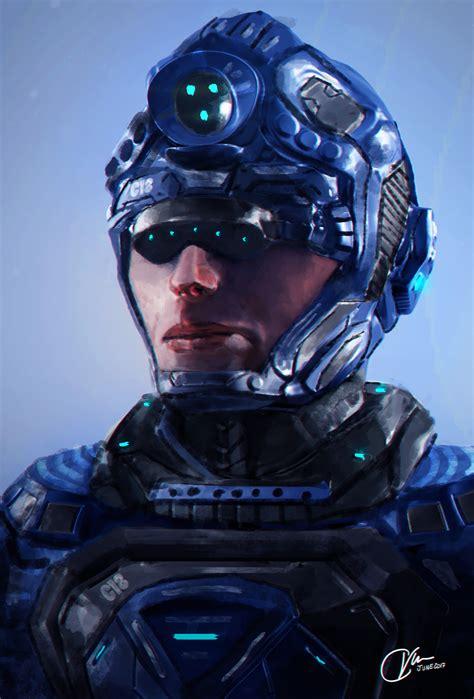 Cray Vee - Cyberpunk Soldier Concept Art