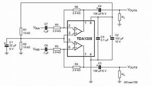 audio missing connection in amplifier example With datasheet what is quotinput hysteresisquot electrical engineering stack