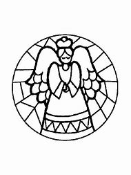 stained glass angel christmas coloring pages printable