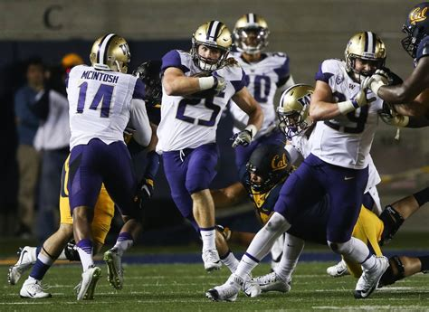 uw huskies roll  cal golden bears