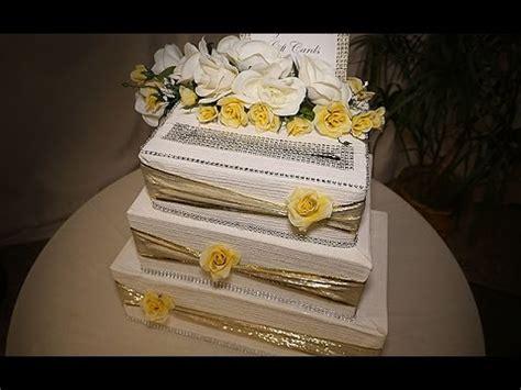 diy wedding cake card box youtube