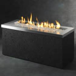 Electric Fireplace With Glass Crystals by Key Largo Fire Pit Table By The Outdoor Greatroom Company