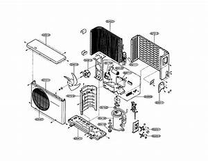 Outdoor Unit Diagram  U0026 Parts List For Model La180cp Lg