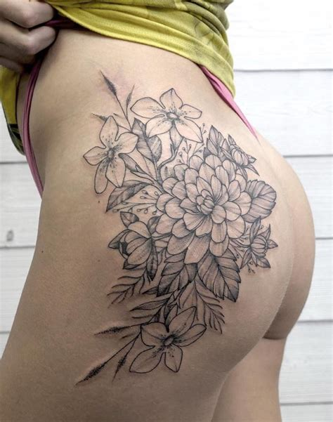 Black And Gray Flower Tattoos  Flowers Ideas For Review
