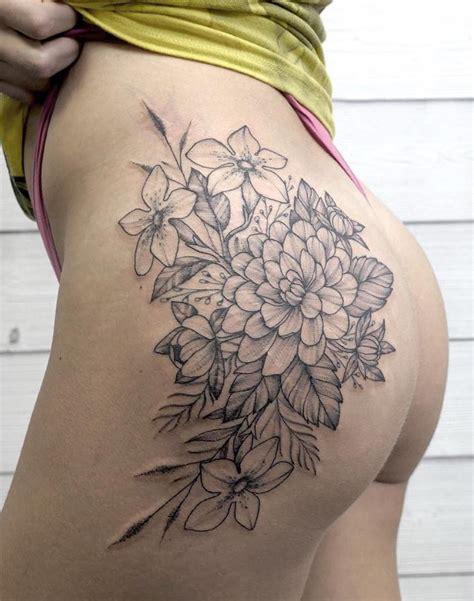 Black And Gray Flower Tattoos JPotapova