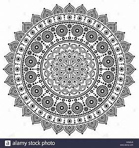 Verspielter Floraler Design Stil : mandala vektor schwarzwei design aborigines malerei dot stil australische volkskunst boho ~ Watch28wear.com Haus und Dekorationen
