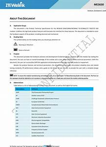 Zte Me3630 Lte Module User Manual