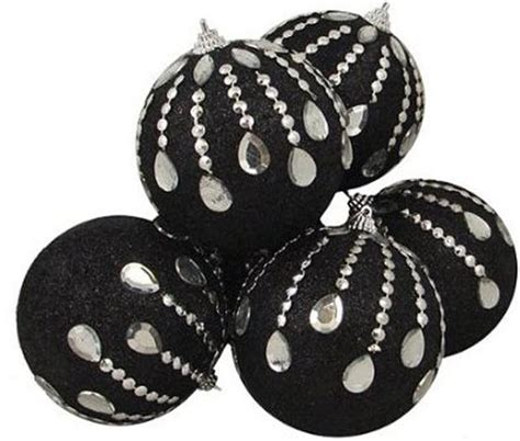 black christmas tree ornaments pictures reference