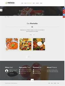 Pistacia restaurant chef food muracms theme by for Chef portfolio template