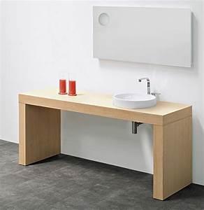 Plan De Toilette Ikea : plan de toilette double en bois ligne bridge 62 by ~ Dailycaller-alerts.com Idées de Décoration