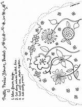 Posies Basket Pretty Arts Crafts Bnute Activity sketch template