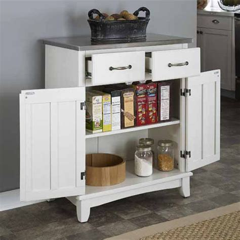 Buffet Servers  Dining Server With White Finish And