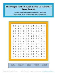 people   church loved   word search