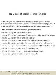 resumes for baptist pastors top 8 baptist pastor resume sles