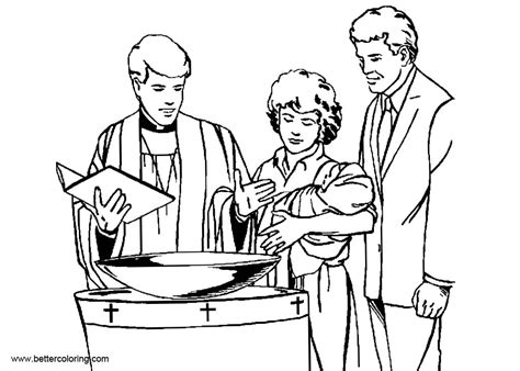 baptism coloring pages catholic baptism coloring pages free printable coloring