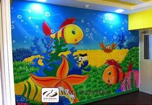 Playschool wall painting mumbai