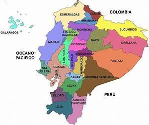 Mapa Politico Del Ecuador Actual