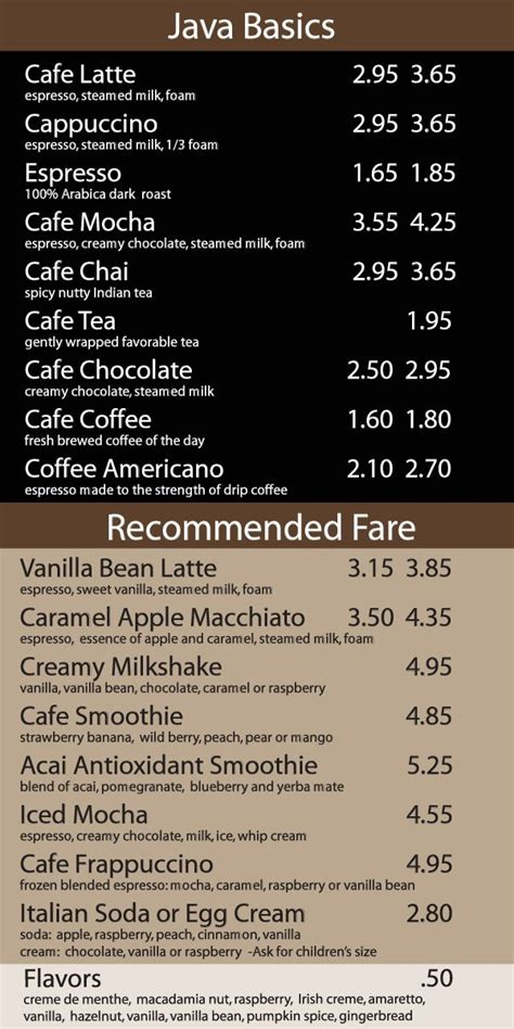 Restaurant menu design crello【menu maker】create your own menu free no design skills make cool menu in a few clicks! CoffeeNet - How to Run a Coffee Shop -- The Network for Resources | Coffee shop menu, Coffee ...