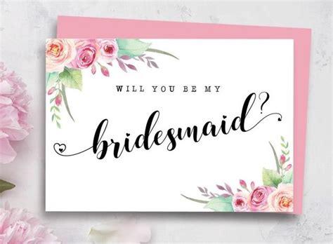 bridesmaid proposal card friday feels paper