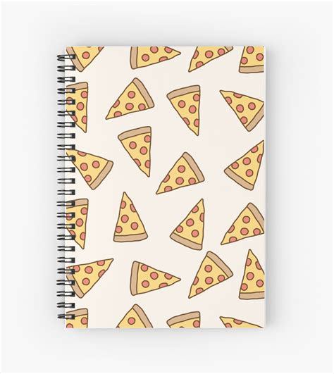 cute tumblr pizza pattern spiral notebook  deathspell