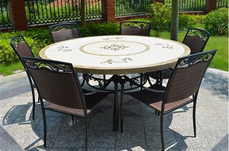 170cm outdoor garden marble mosaic dining table luxor