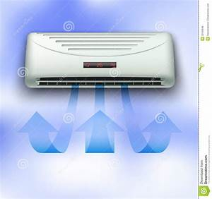 Cold Stream Coming From Air Conditioner Royalty Free Stock ...