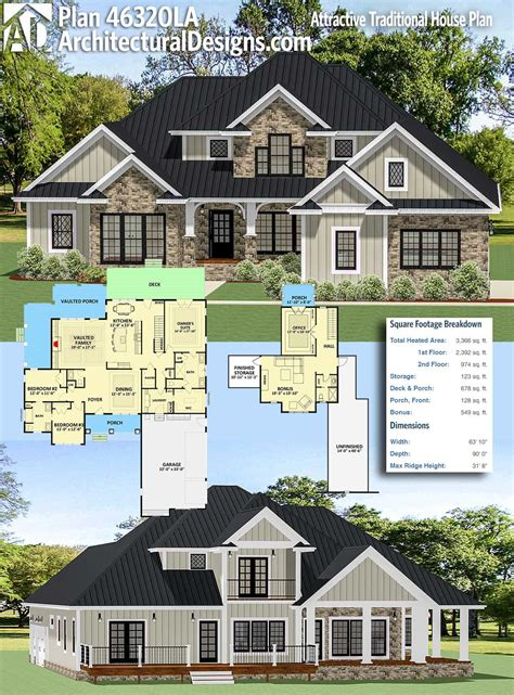 Traditional Home With Great Floor Plan  House Plans