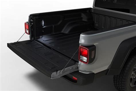 jeep gladiator exterior features durable steel bed   position taligate motor