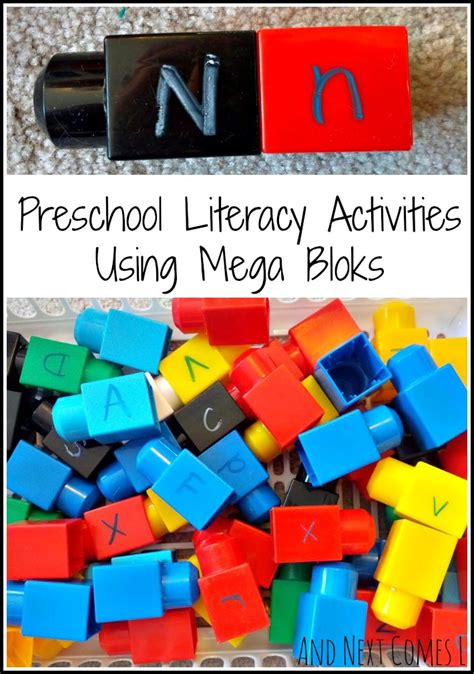 preschool literacy activities 5 literacy activities using mega bloks and next comes l 837