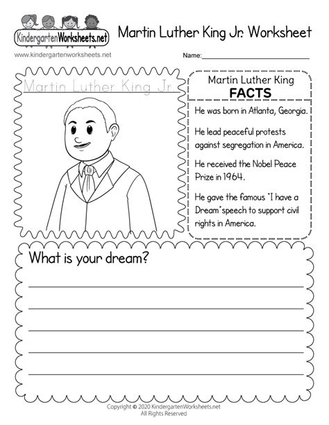 printable martin luther king jr coloring worksheet