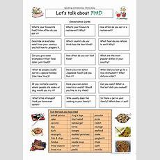 Let's Talk About Food Worksheet  Free Esl Printable Worksheets Made By Teachers