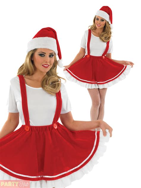 ladies mrs claus costume womens christmas gnome helper elf