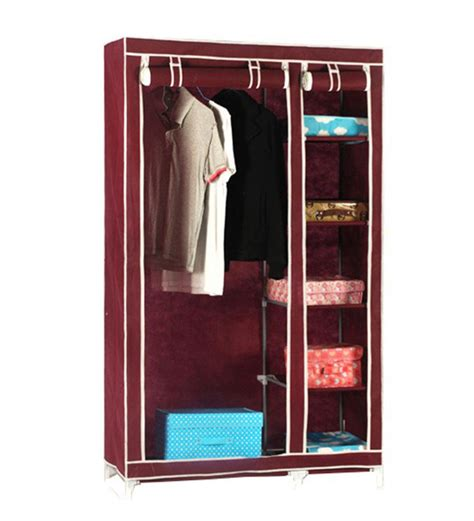 Free Standing Kitchen Storage Cabinets With Drawers by Fancy Foldable Closet Wardrobe In Maroon By Pindia By
