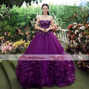Medieval Purple Ball Gown Dress