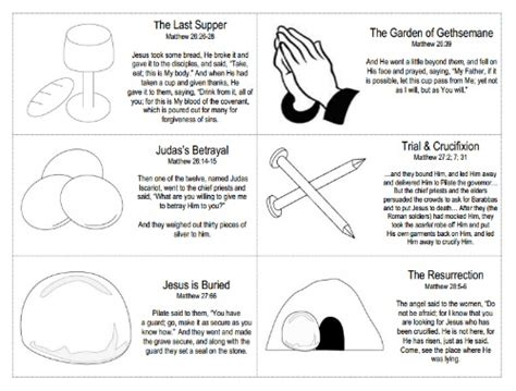 easter resurrection story cards free printable true aim 259 | resurrection story cards free printable