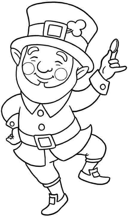 leprechaun coloring page free colouring pages leprechaun for