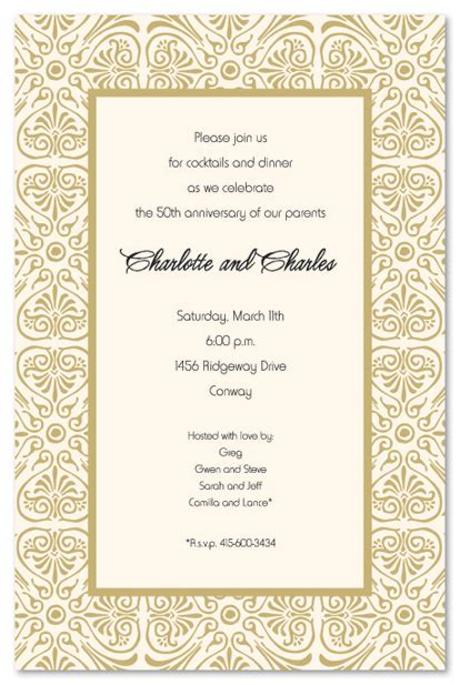 7 Best Images of Printable 50th Wedding Invitation Borders