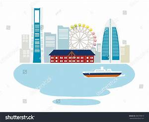 Illustration Yokohama Vectors Stock Vector 386799619