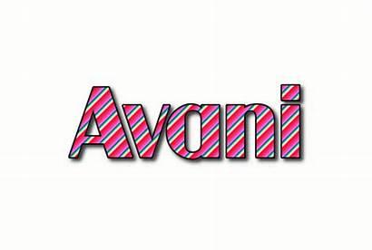 Avani Animated Text Logos