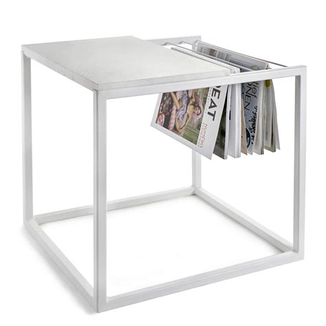magazine rack table l hang it small end table magazine rack l 47 x h 49 cm