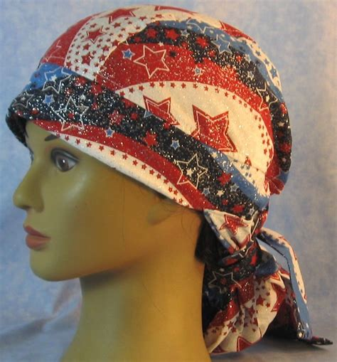 Hair Stocking In Red White Blue Wave Stars Adult 1xl 3xl