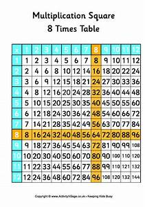 Table De 8 : 8 times table multiplication square ~ Dallasstarsshop.com Idées de Décoration