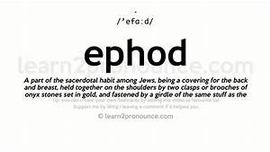 Ephod Pronunciation And Definition